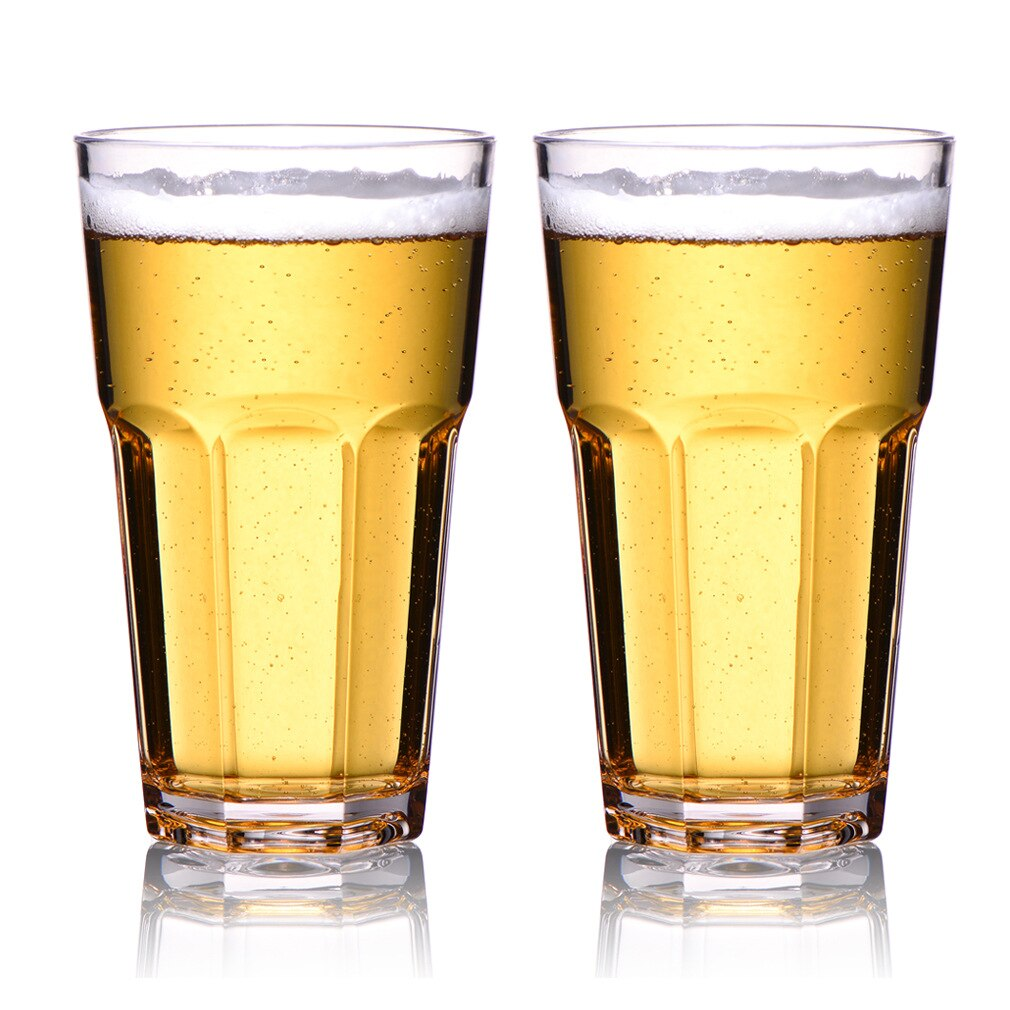 Transparent Bier Becher Tritan Kunststoff Trinken Glas Whisky Glas Bar Wein Gläser 4 stücke