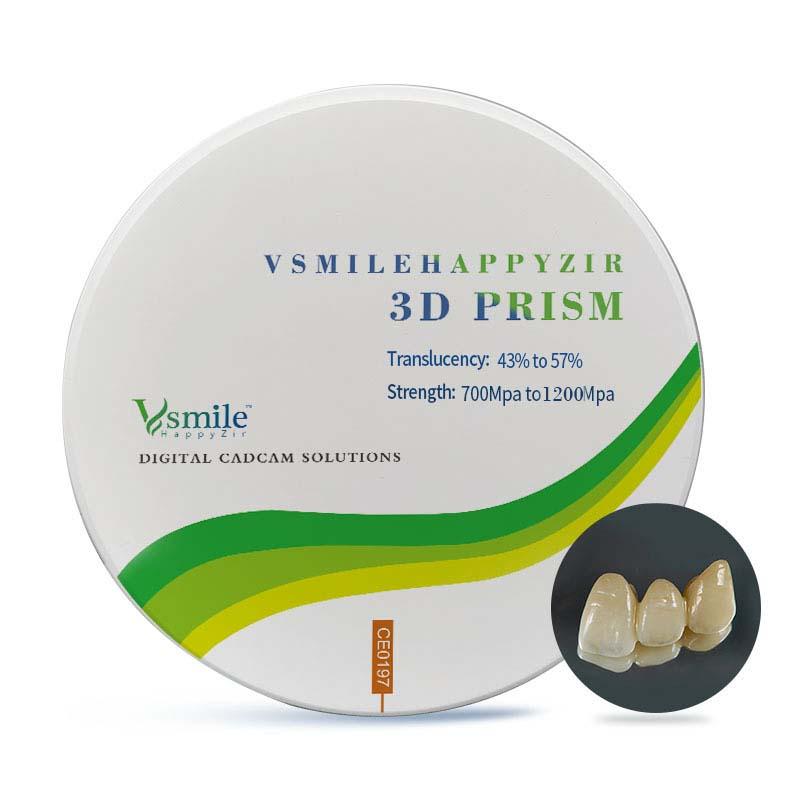3d-призма Многослойные циркониевые блоки для фотокерамического диска, используемого в стоматологии
