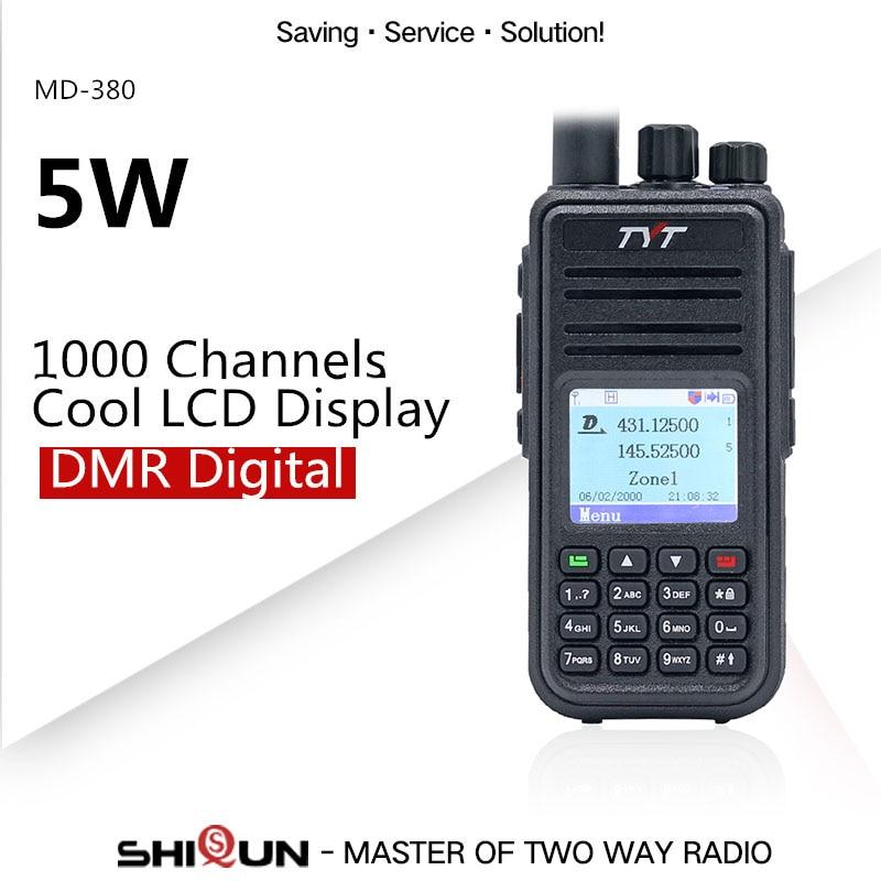 Рация DMR, совместимая с Motorola Tier1/2, Двухдиапазонная UHF VHF 5 Вт, TYT DMR, цифровая рация md380 Baofeng DMR MD-380
