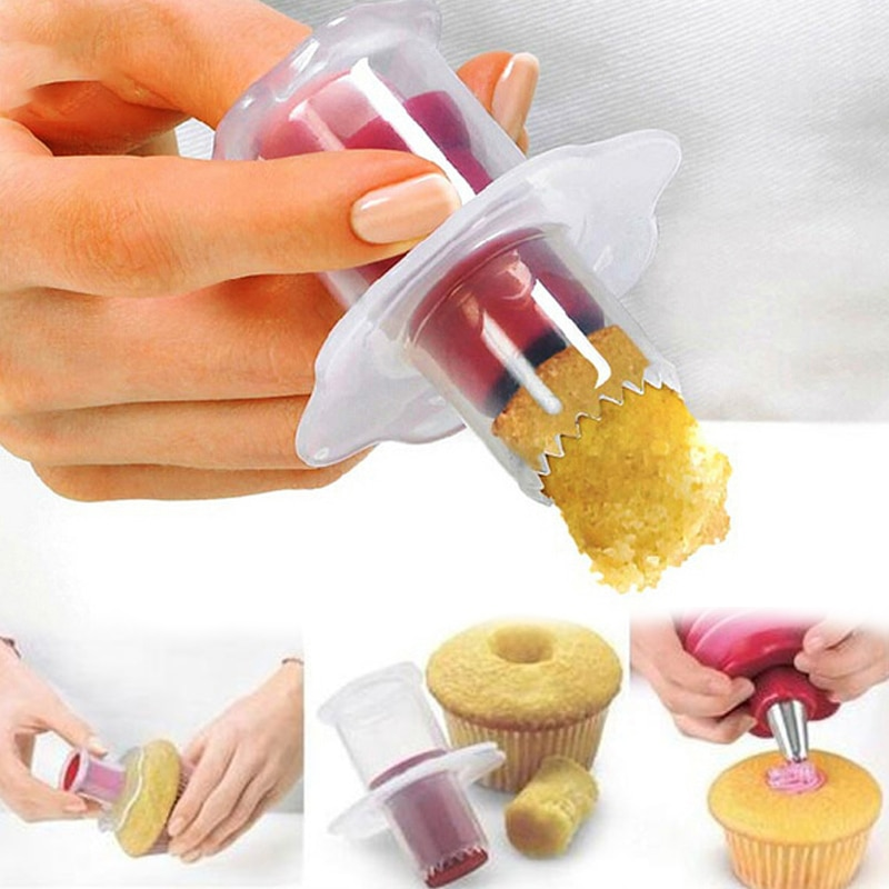Cupcake Corer Muffin Cake Hole DIY Cake Cored Device Remove Muffin Cup Cakes Baking Dessert Pastry Decoration Baking Tools 2021 new arrival popular diy tool 900ml cupcake pancake batter dispenser muffin helper mix pastry jug baking family essential