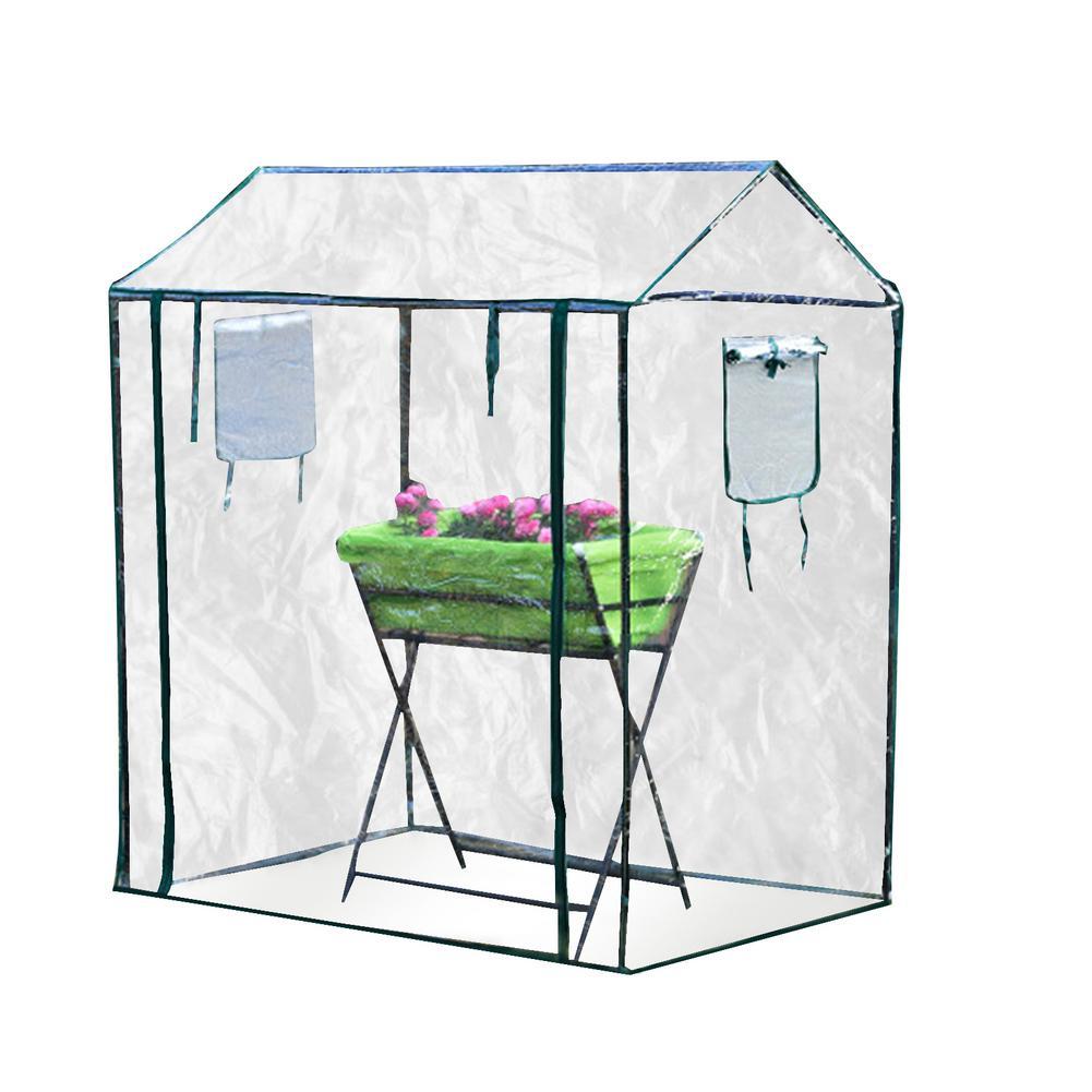 حديقة صغيرة الدفيئة مع رفوف غطاء مقاوم للماء النباتات تنمو غطاء المنزل للزهور الدافئة تسليط المنزلية المحمولة دائم