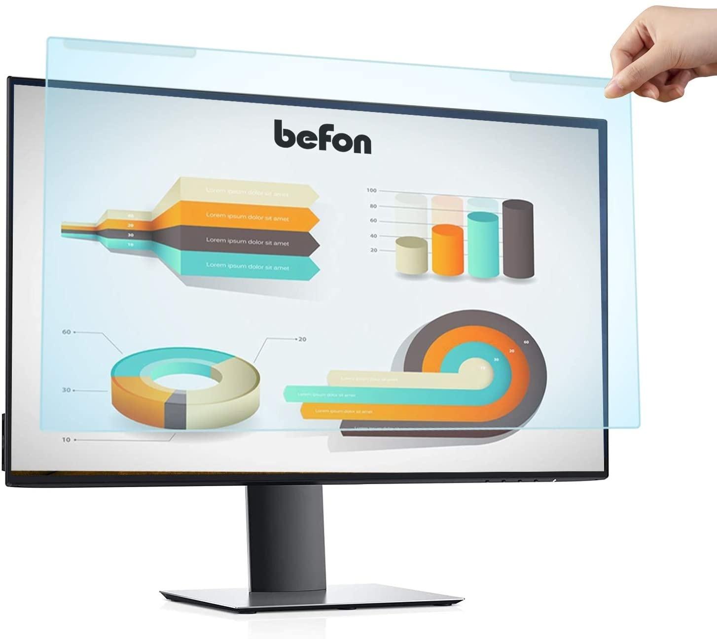 Befon 32 بوصة مكافحة الأزرق مرشح ضوء ، مكافحة حامي ل جهاز كمبيوتر شخصي ، حماية عينيك من الضوء الأزرق الضرر 714 مللي متر x 435 مللي متر