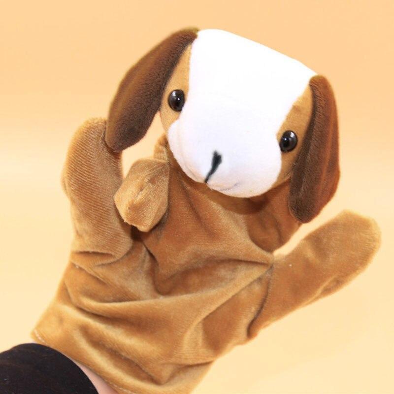 Пальцевые с изображением милых животных из марионетка перчатка в виде игрушки пальчиковая кукла собаки плюшевые игрушки для детей, подарок...