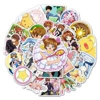 103050pcs anime variety sakura sticker school student diary hand ledger stationery mobile phone guitar decoration kawaii kid