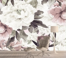Vintage Rose papeles pintados 3d foto de decoración del hogar papel tapiz naturaleza 3d para sala de estar extraíble pelar y pegar murales de papel de Contacto