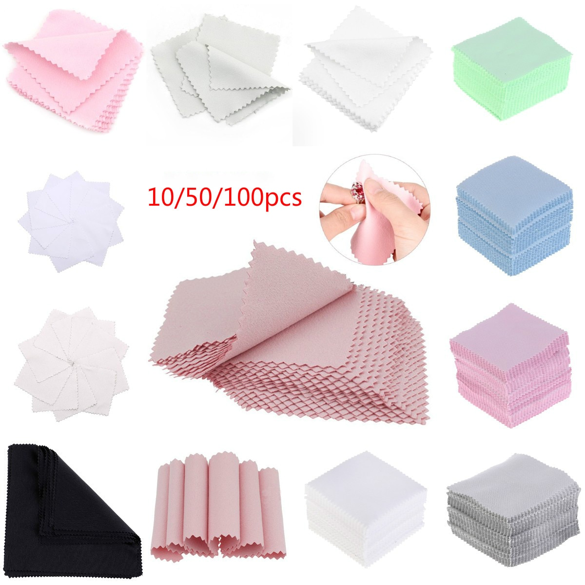 10/50/100pc Cleaner Clean Glasses Lens Cloth Wipes For Sunglasses Microfiber Eyeglass Cleaning Cloth