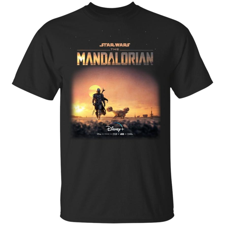 Nueva Star Wars la serie de Tv Mandalorian 2019 camiseta negra-Azul marino para hombres-mujeres 37Th 30 40Th 50 cumpleaños camiseta