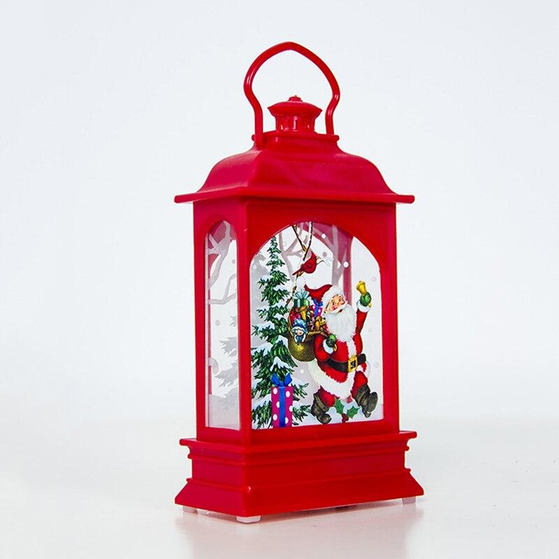 Decoración de fiesta Festival lámpara de viento luz de noche miniatura figura modelo Chrsitmas patrón ornamento colgante manualidades niños Juguetes