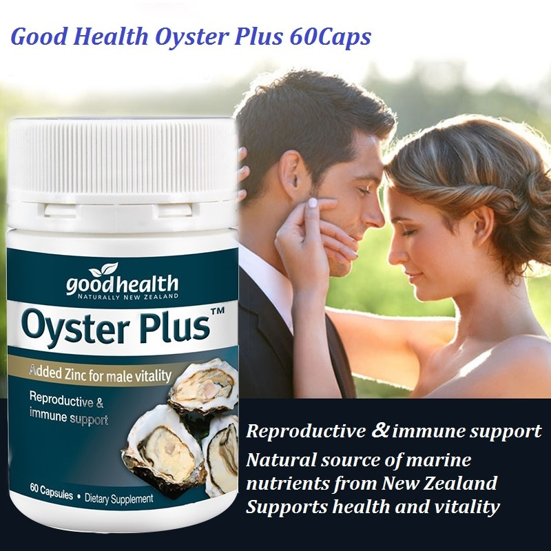 NewZealand GoodHealth Oyster Plus Marine Supplement 60Caps for Men Health Vitality Immune Support Reproductive Health Wellbeing