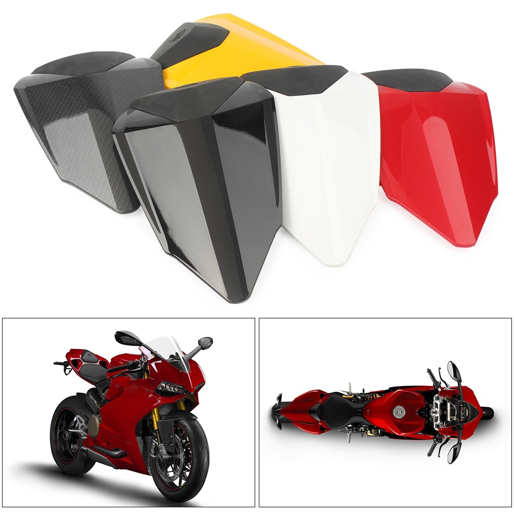 For Ducati 1199 2012-2015 Rear Pillion Passenger Cowl Seat Back Cover ABS Plastic Motorcycle Accessories