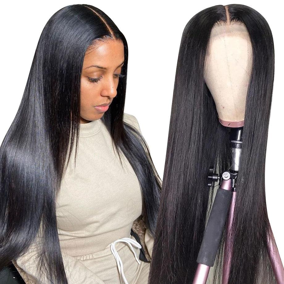 ONETIDE 28 30 32 inch bone straight lace front wig long Brazilian lace front Human Hair Wigs for women lace frontal closure wig