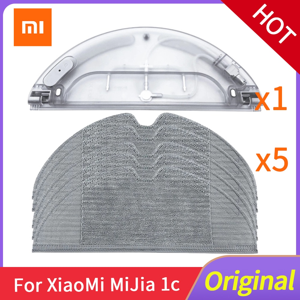 Xiaomi Mijia 1C Water Tank Robot Vacuum Cleaner Accessories Original Electric Control Water Tank Cleaning Cloth Mop Package