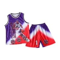2021 character printing basketball suits for boys football jersey school uniform sport training sets for boys shirts shorts