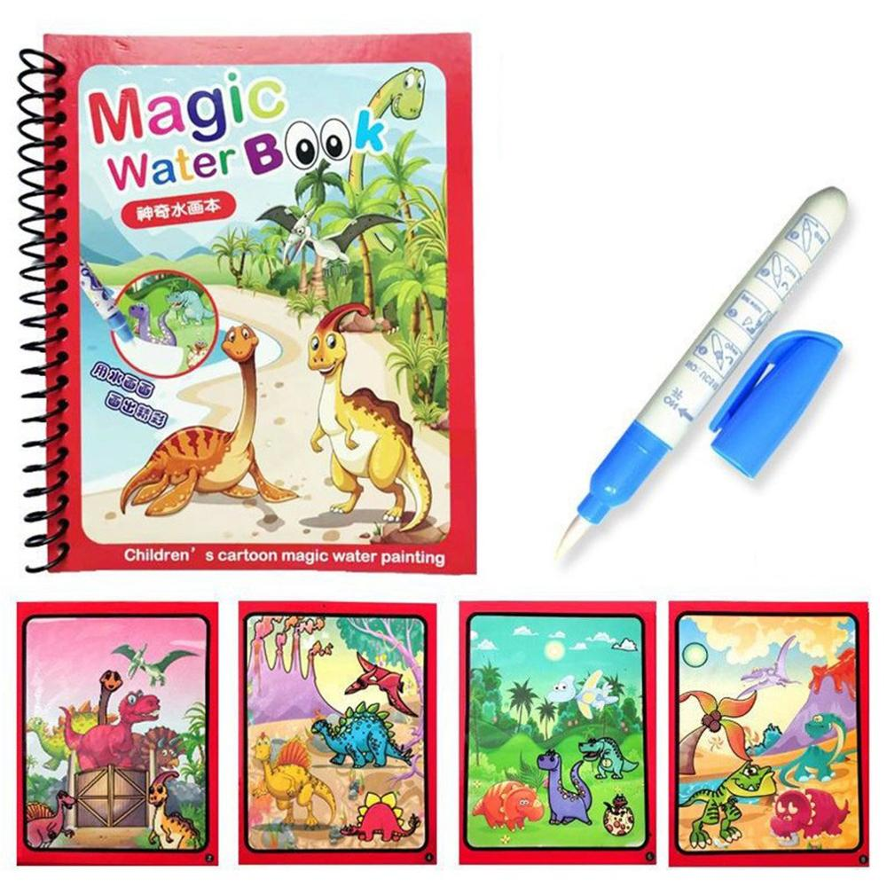 Colorful Magic Water Drawing Book Coloring Book Doodle With Magic Pen Painting Drawing Board Learnin
