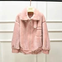 women winter coat moto biker style new fashion australia imported double face fur real sheep lamb wool jacket thort clothes