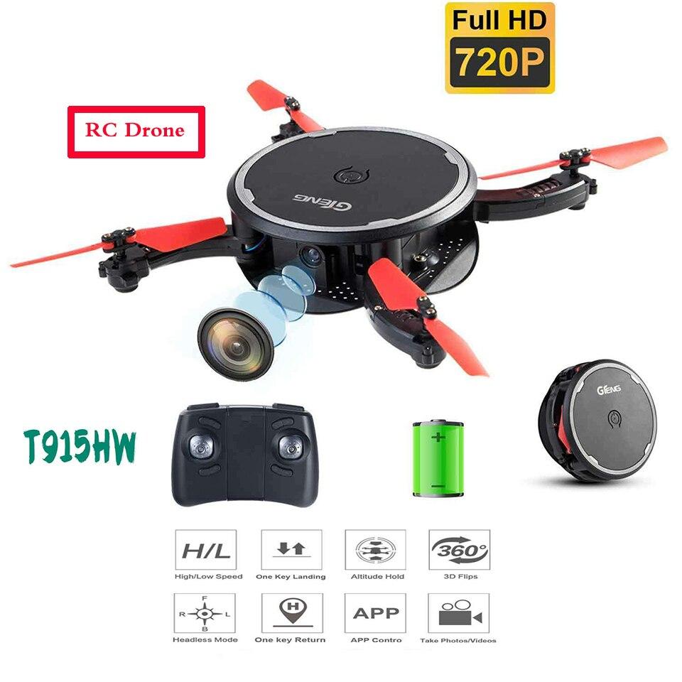 Mini Drones plegable 720P gran angular Cámara WIFI FPV Quadcopter modo sin cabeza