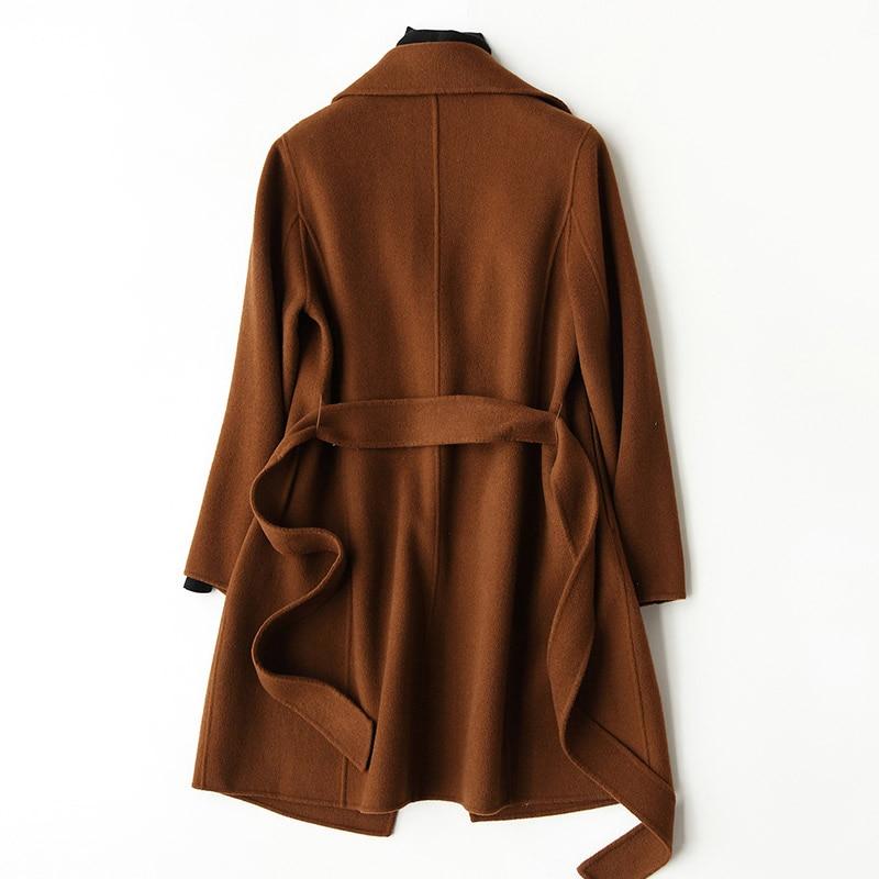 Chaqueta larga de lana 2020 para Mujer, abrigo coreano de lana, Abrigos...