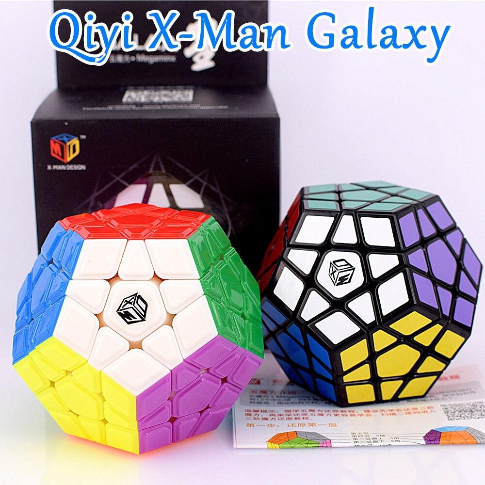 Qiyi x-man Galaxy V1 3X3x3 Megaminxeds cubo mágico 3x3 cubo de rompecabezas velocidad Regular dodecaedro 12 lados 3x3x3 cubo mágico qiheng S