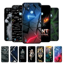 For Realme C21 Case Soft Silicone Cover For Realme C21 6.5 inch Geometric Style Phone Case For OPPO