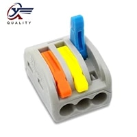 3050100 pcslot pin 213 222 213 color mini fast wire connectors universal compact wiring connector push in terminal block