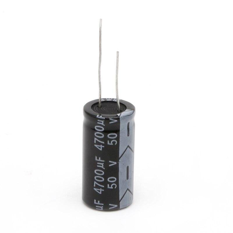 2 pces 18*35mm 4700 uf 50 v alumínio capacitor eletrolítico 105 °c dimensão n1hf
