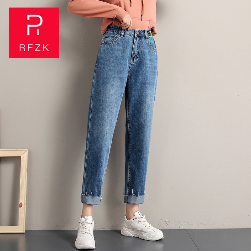 2018 girl s jeans embroidered flowers rose kids trousers cowboy pants denim 3 7 year old child RFZK Fashion Women Mom Jeans Cowboy Trousers Boyfriends Women's Jeans Full Length Mom Jeans Cowboy Denim Pants Plus Size