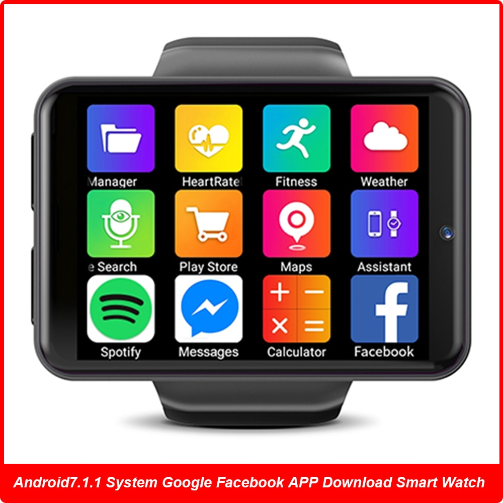 """Promo 2.4"""" Display 640*480 3G+32G 4G Watch Phone IP67 Smartwatch 8MP Camera Face ID Facebook Google Android GPS Game Play Smart Watch"""