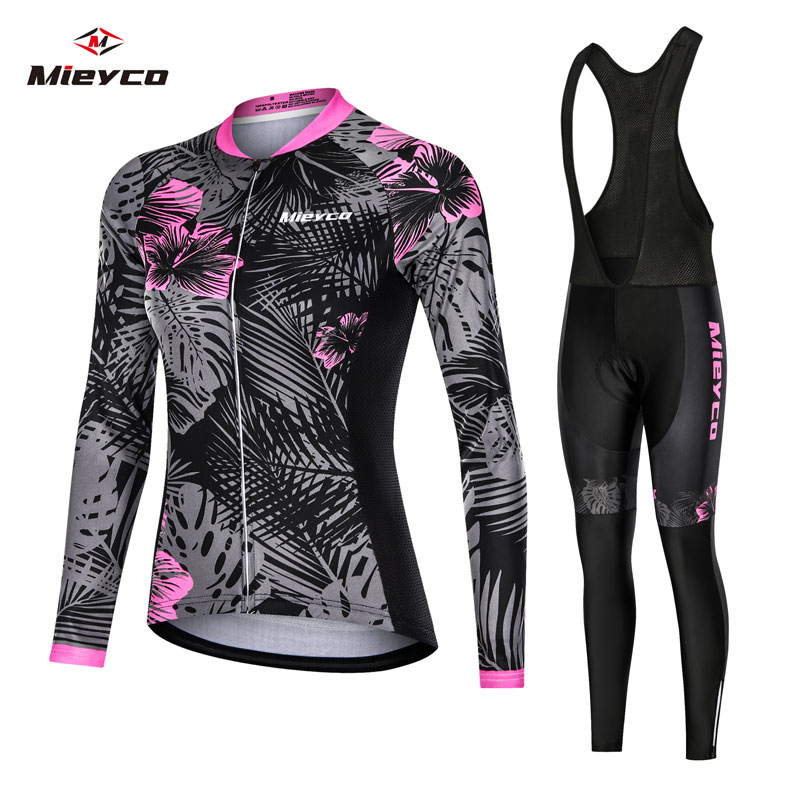 Mieyco Anti-UV Spring Women Cycling Set Polyester Bicycle Wear Bike Clothes Jersey ciclismo feminino
