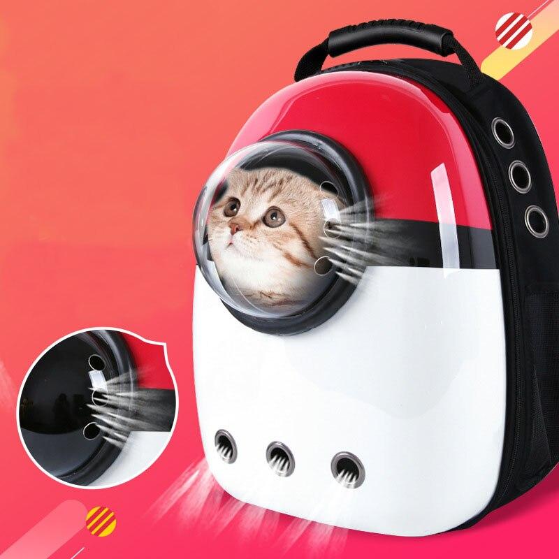 Mochila para perro y gato, Transportín de viaje para gato, bandolera doble, mochila de cápsula espacial para gato, Bolso pequeño para mascota, transporte de gato