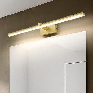 Светодиодный зеркальный светильник для ванной комнаты, туалетный светильник s, зеркальный светодиодный светильник для макияжа, настенные с...