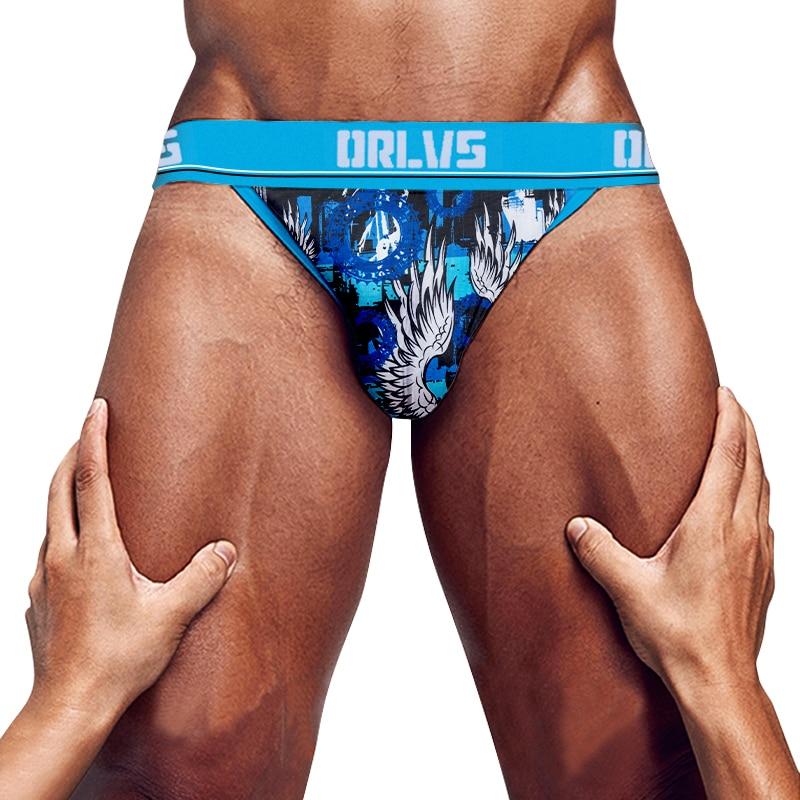 New Funny Men's Briefs Ice Silk Soft Sexy Underwear Men Underpants   Cotton Mens Underware Gay High