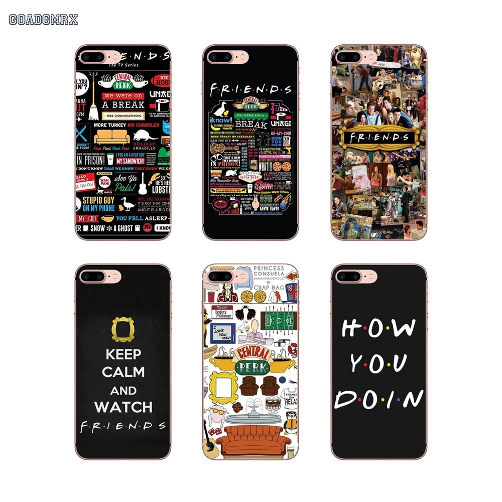 Casca Mole transparente Cobre Amigos TV do Café Central Perk Para iPhone 4 11 X XR XS Pro MAX 4S 5 7 8 5S SE 5C 6 6S Plus