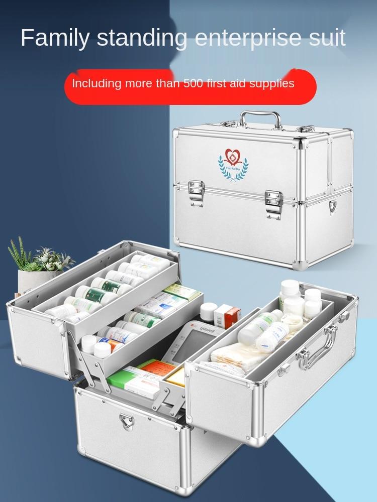 Медицинский Набор, семейный Многоуровневый Набор первой помощи, медицинский набор с аптечкой, полный набор для аварийного хранения