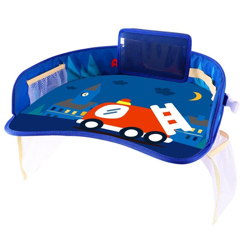 طفل سيارة الجدول المحمولة مقاوم للماء ربط لطيف الغذاء لعبة طاولة طعام ل سيارة أطفال صينية مائدة التخزين Oragnizer للأطفال