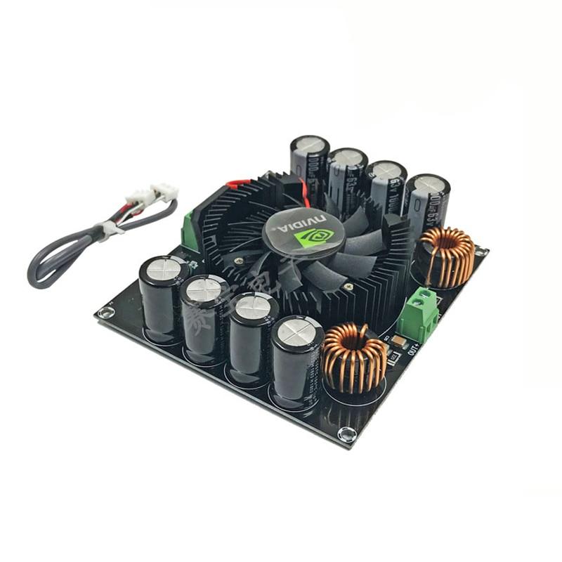 Kyyslb placa amplificadora digital, 420w 4-8ohm tda8954th placa de amplificador de alta potência final pura classe ad placa amplificadora