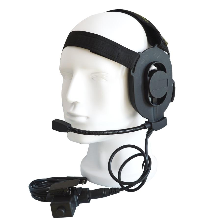XQF HD01 Z táctico Bowman Elite II auriculares con U94 PTT auricular para $TERM impacto BaoFeng UV-5R GT-3 UV-82 BF-888S BF-F8 RT-5R Radio