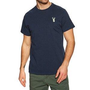 Mens Animal Buckin Embroidered T-shirt Embroidery Animal Buckin Shirts