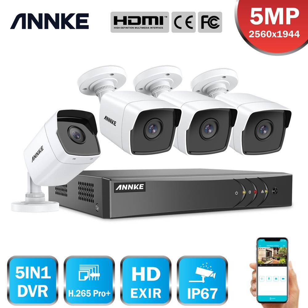Anke 8CH 5MP لايت نظام الأمن الفيديو 5IN1 H.265 + DVR مع 4 قطعة 5MP رصاصة في الهواء الطلق مانعة لتسرب الماء كاميرات المراقبة طقم الدوائر التلفزيونية المغلق...