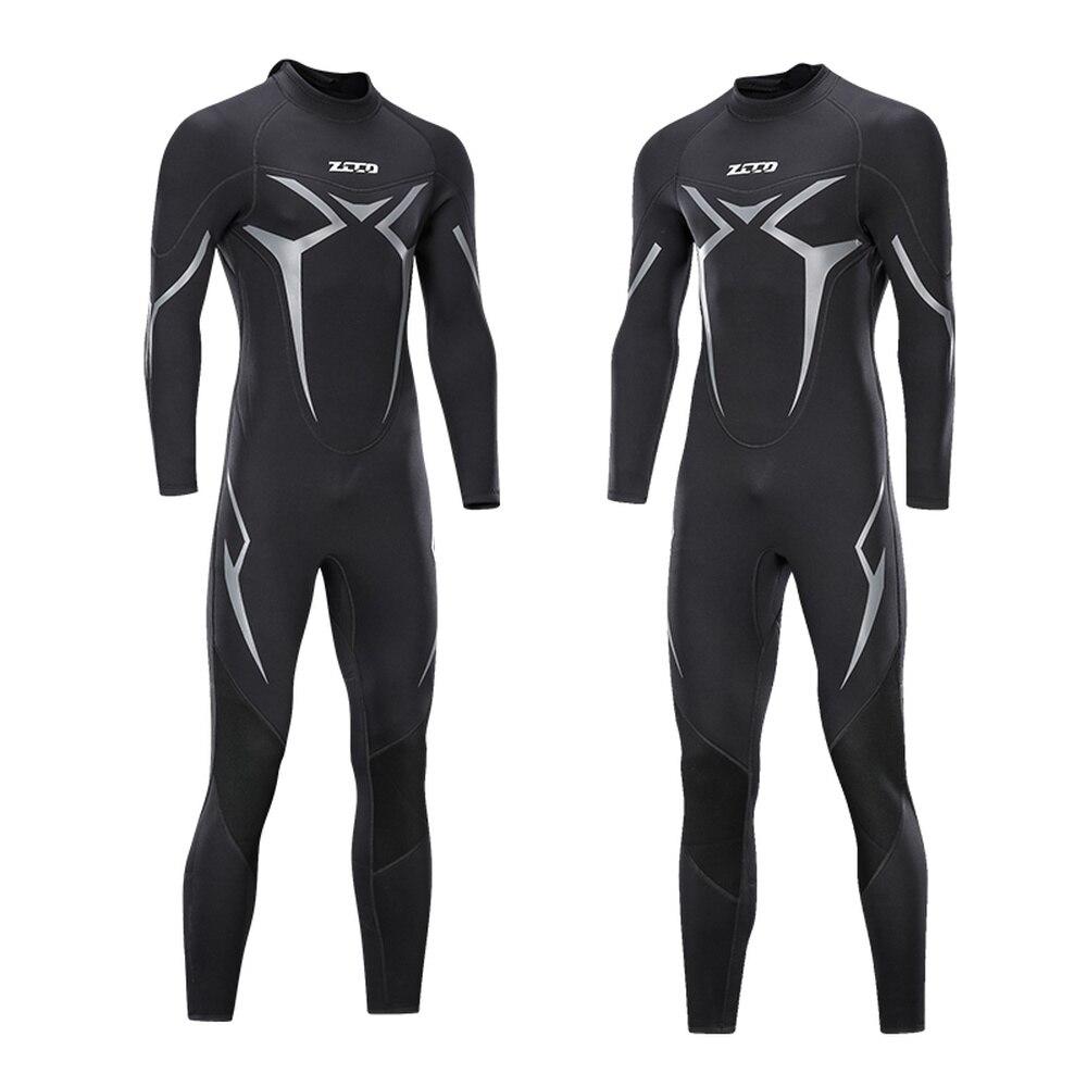 3mm Neoprene Mens Full Body Wetsuit Black Cold-proof One-piece Long Sleeves Diving Suit Surf Swim Kayak Scuba M-4XL