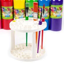 Paint Brush Pen Holder 49 Holes Pen Rack Display Stand Pen Holder Support Supplies Brush Art Painting Watercolor Holder C7R6