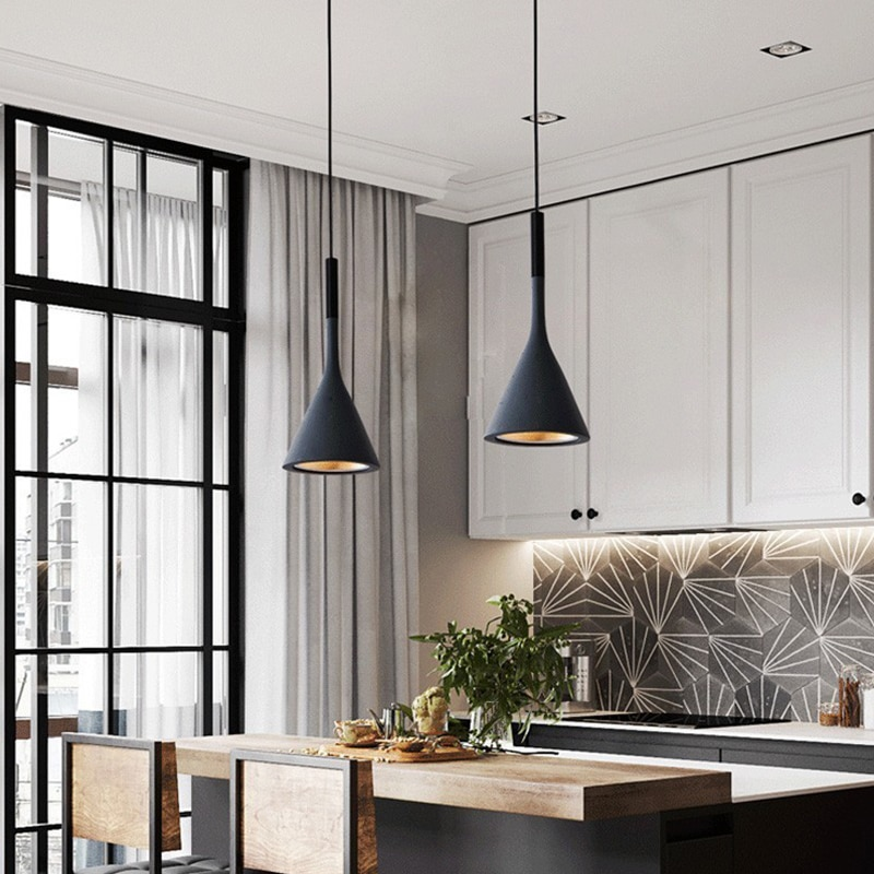 الشمال الحديثة قلادة Led أضواء تركيبات المطبخ البارات غرفة نوم المنزل مصباح معلق مقهى lamvillage دي تيكو Colgante الحديثة