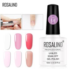 ROSALIND UV esmalte de Gel de uñas un paso Builder Gel Poly un paso para extensión manicura sin Base juego de Arte de uñas kit de uso de la capa superior