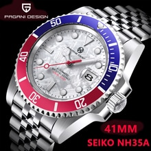 2021 PAGRNE DESIGN New Top Brand Men's NH35 Automatic Mechanical Clock PAGANI 41mm Stainless Steel W