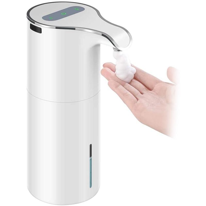15 أوقية/450 مللي وعاء توزيع الصابون الأوتوماتيكي Touchless رغوة الصابون موزع-قابلة للشحن رغوة مقاومة للماء مضخة صابون موزع