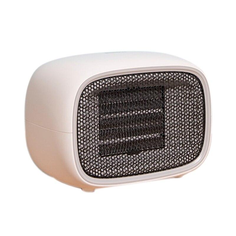 Mini aquecedor de ar elétrico 500 w ptc aquecimento fogão aquecedor do radiador ventilador para o escritório casa viagem eua plug 220 v
