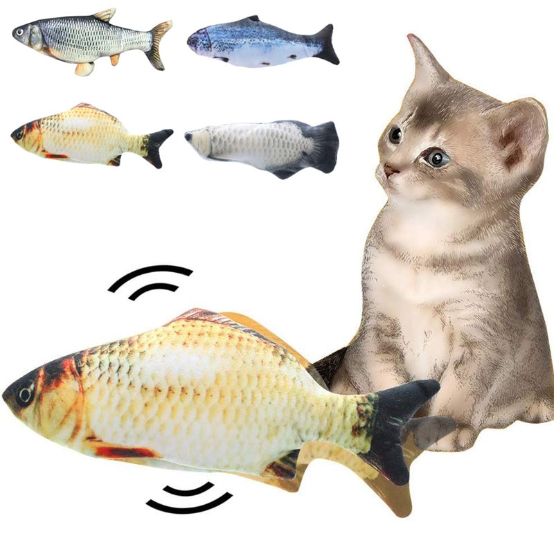 30CM Electronic Pet Cat Toy Electric USB Charging Simulation Fish Toys for Dog Chewing Playing Biting Supplies
