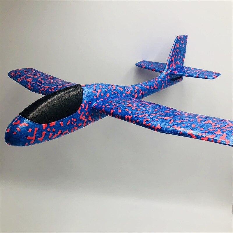 Brillante Avión de lanzamiento a mano EPP deslizador de espuma que tira a mano avión de caza modelo avión niños de gran tamaño resistente a las caídas