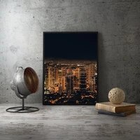 modern urban view living room wall art posters home decorative paintings interior bedroom decor city pictures canvas unframed