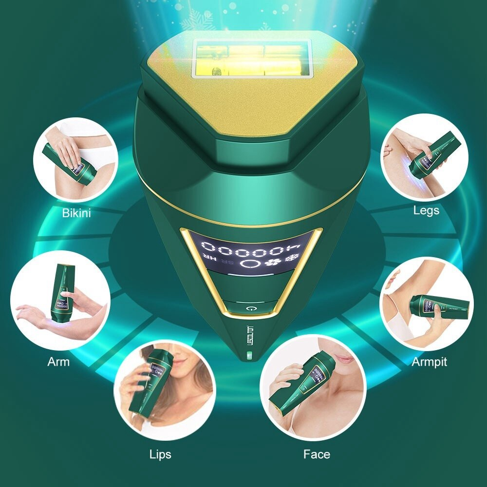 Permanent IPL Hair Removal Machine Face Body Ice Cool Painless Pulsed Light Depilation Electric Epilator a Laser 400000 Flashes enlarge