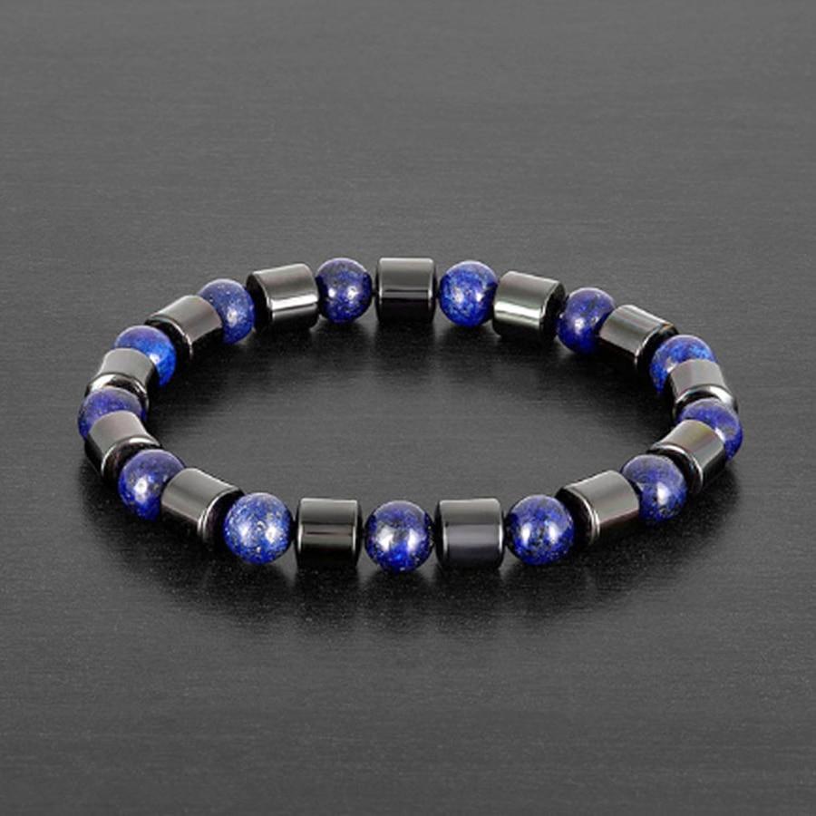 Купить с кэшбэком Cylinder Hematite Charm Bracelets Men Tiger Eye & Hematite Bracelets for Women Natural Energy Stone Bracelet Jewelry Accessories